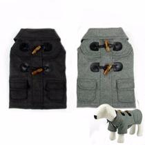 Roupa Casaco Inverno Cinza Cachorro Cão Pet Pequeno Médio