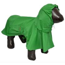 Capa De Chuva P Cães Cachorros Impermeável Tamanho M Verde