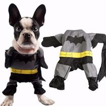 Roupa Fantasia Cachorro Cão Gato Dog - Batman - Tamanho Pp