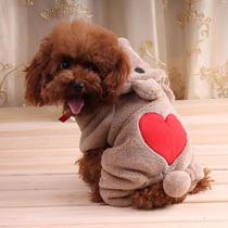 Roupa Fantasia De Ursinho Para Cães Gatos Inverno Tamanho Pp