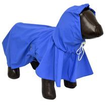 Capa De Chuva Pcães Cachorros Impermeável Tamanho G Azul