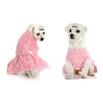 Vestido Soft Rosa De Inverno Para Cachorra | Tamanho: 0