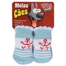 Roupinha Meia Para Cães Macho Cor Azul Pet Shop Tamanho P