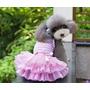 Roupa Vestido Algodão Para Cachorro Saia Tule Tamanho Gg