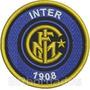 Tiit023 Inter De Milão 8cm Itália Escudo Time Patch Bordado