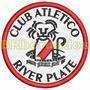 Tiar002 River Plate Argentina Futebol Patch Bordado 7,5 Cm
