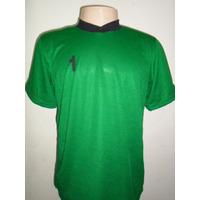 Camisa Goleiro Tamanho G Verde Numero 1 Uniforme Futebol