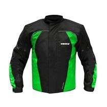 Jaqueta 100% Impermeável Motociclista Texx Strike Verde / Xl