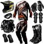 Kit Equipamento Pro Tork Insane 3 Piloto Trilha Motocross