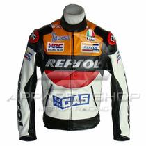 Jaqueta Motociclista Honda Repsol Couro Pu - Frete Gratis!