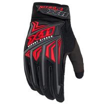 Luva X11 Nitro 3 Vermelha Proteção Motoqueiro Motociclista