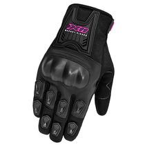Luva Motoqueiro Feminina Blackout X11 Com Proteção