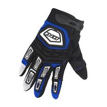Luva X11 Motoqueiro Moto Nitro X Tecido Preto Azul P