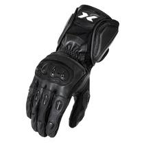 Luva Motociclista X11 Impact Cano Longo Couro C Protetor M