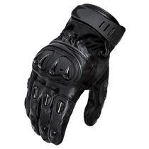 Luva X11 Impact Cano Curto Couro Proteção Motociclista