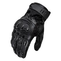 Luva Motociclista X11 Impact Cano Curto Couro C Protetor G
