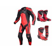 Macacão Motoqueiro Texx Phanton 1peça Couro Racing Cupim
