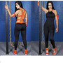 Macacão Fitness Feminino-tiras Regulaveis-academia-ginastica