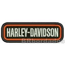 Patch Bordado Mot065 Harley Davidson Moto Custom Gp F1 Kart