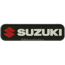 Mot063 Suzuki 25x6,5 Cm Moto Custom Rally Gp Patch Bordado
