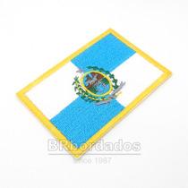 Bbr136 Bandeira Rio De Janeiro Rj Kart Patch Bordado 8x5,5cm