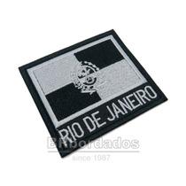Bbr336 Bandeira Rio De Janeiro Rj Airsof Patch Bordado 9x8cm