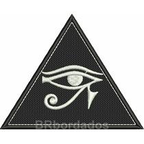 Rel005 Olho De Horus Egito Tag Patch Bordado 9x7,2cm