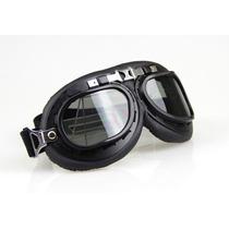Óculos Motociclista Aviador Piloto Moto Atv Lente Fumê Claro