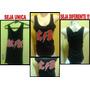 Regata Feminina Moda Fitness Estampada Banda Rock Acdc