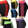 Shorts Bermuda Ginastica Cos 3 Listras Corrida Yoga Pilates