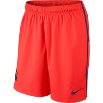 Calção Nike Barcelona Home Soccer 2014-2015 Laranja