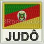 Atm061 Bandeira Rs Judô 9cm Art Marcial Kimono Patch Bordado