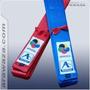 Faixa Karate Kata Belt-wkf Approved 5 / 290cm Vermelho