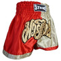 Shorts Muay Thai Kick Boxing New Strike Vermelho/dourado - P