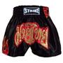 Shorts Muay Thai Kick Boxing Flama - Lateral Preto - P