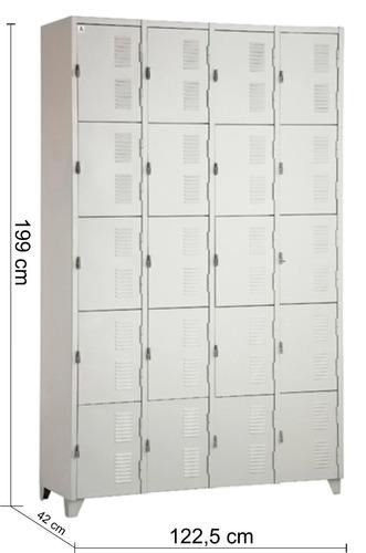 Artesanato Reciclar ~ Roupeiro De Aço Academias Vestiários 20 Portas R$ 577,00 no MercadoLivre