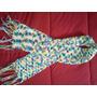 Cachecol De Lã Trico Feito A Mão