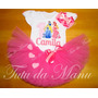 Fantasia Tutu Infantil Personalizada Princesas Disney