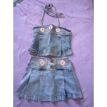 Conjunto Infantil Jeans - Feminino