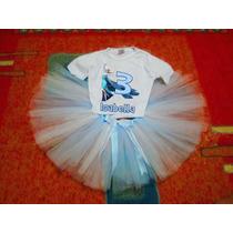 Fantasia Tutu Frozen Elsa Ou Anna Tule Ballet Festa Saia