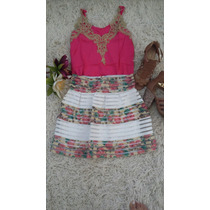Conjunto Saia Com Elastico Cós+blusinha $55
