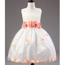 Vestido Festa 3d Princesa Menina Infantil