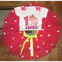Fantasia Tutu Infantil Moranguinho Pink Personalizad1a8 Anos