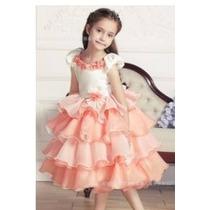 Vestido Princesa Abc Menina Infantil