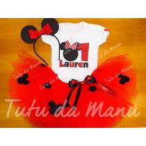 Fantasia Tutu Infantil Minnie Personalizada Completa
