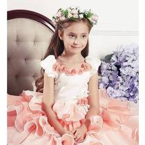 Vestido Princesa Abc Menina Infantil Acompanha Tiara
