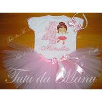 Fantasia Tutu Bailarina Personalizada Completa