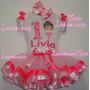 Fantasia Bailarina Personalizada Luxo Fitas Tutu