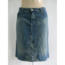 Linda Saia Jeans - Yessica Tam; 48 R$ 40,00