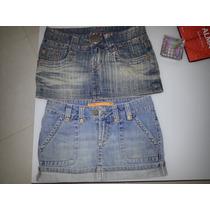 Saias Jeans Carmin E Disritmia - 2 Pelo Preço De 1